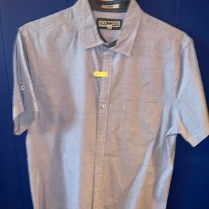 Express Fitted Short Sleeved Shirt L